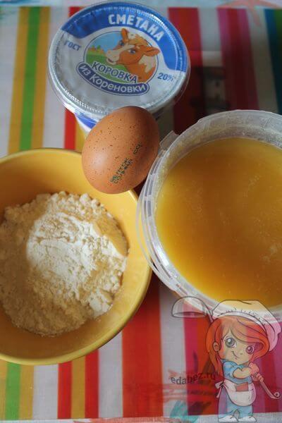 Продукты для приготовления простого печенья