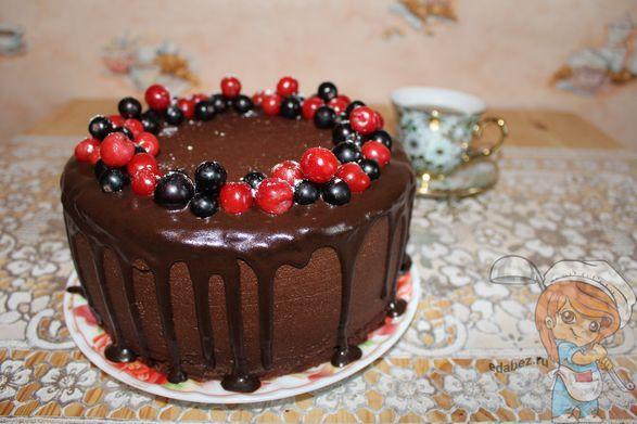 Шоколадный торт без яиц