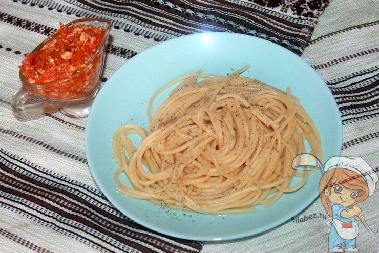 Спагетти с тофу - рецепт с фото