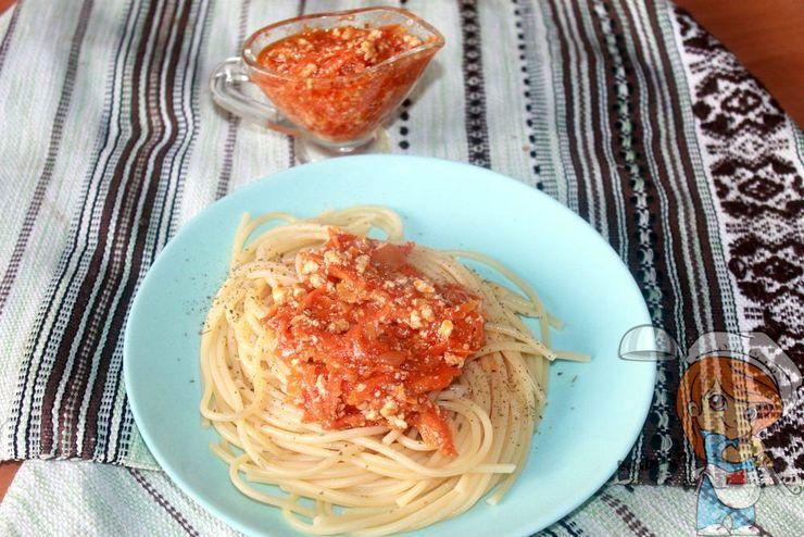 Макароны без мяса, рецепт с фото