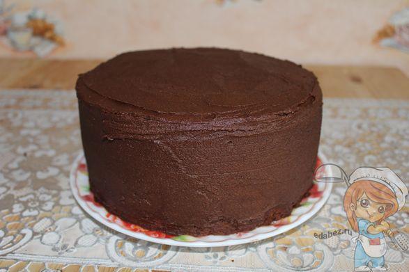 Покрываем весь торт