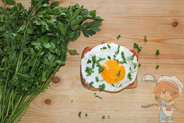 Бутер с яйцом