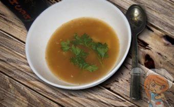 Суп с китайской лапшой и грибами
