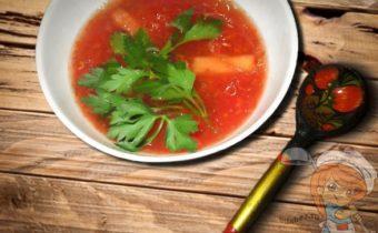 Суп из помидоров с апельсином