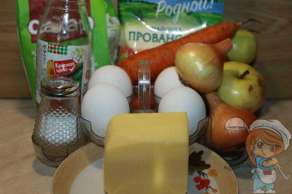 продукты для салата с яблоком
