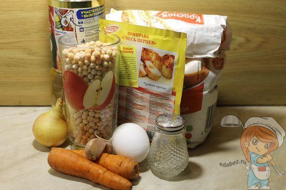 Продукты для вегетарианских котлет