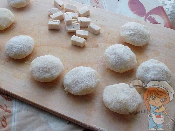 Заготовки сырных наггетсов