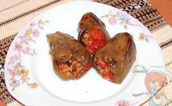 Вегетарианские варшированные перцы без мяса