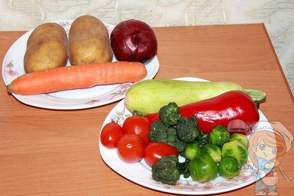 Овощи в фольге в духовке — рецепты правильного питания