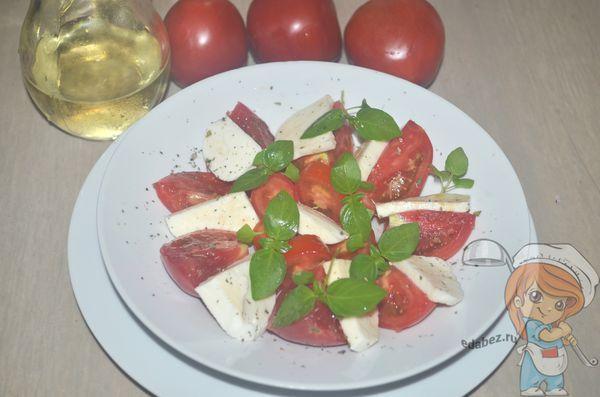 Капрезе - салат без мяса