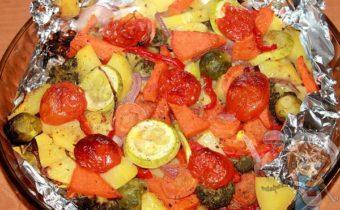 Овощи в фольге