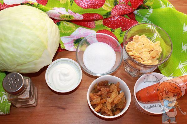 Рецепт салата с хлопьями