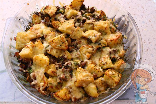 Картошка в духовке без мяса