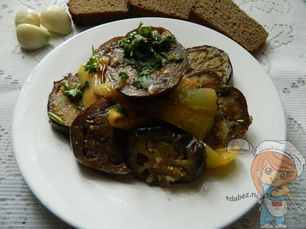 Закуска из баклажан и перца