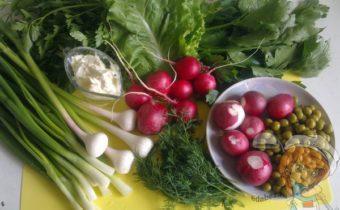 Огородные овощи для салата