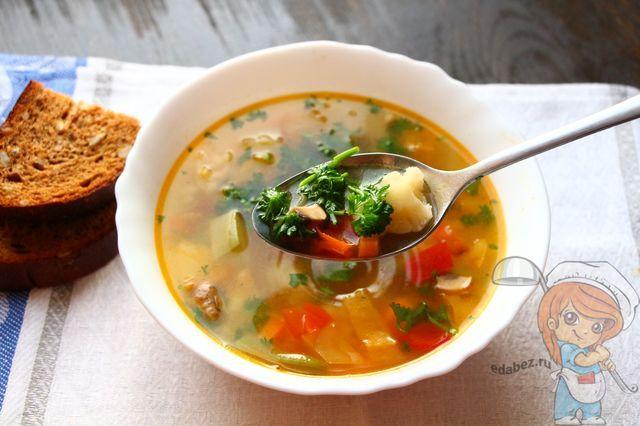 Овощной суп без мяса