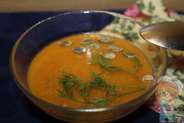 Суп пюре из тыквы