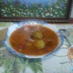 суп с рисом и брюссельской капустой