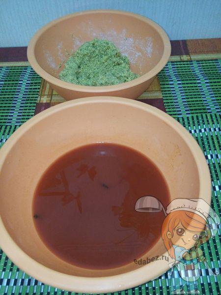Томатный соус и фарш