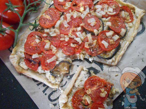 Пирог с баклажанами и томатами