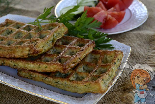 Вафли из кабачков, рецепт с фото