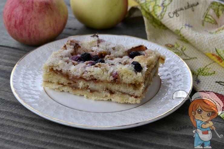 Насыпной яблочный пирог 3 стакана