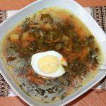 постный суп с щавелем без мяса