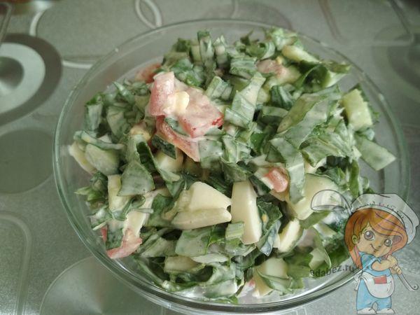 Салат с щавелем