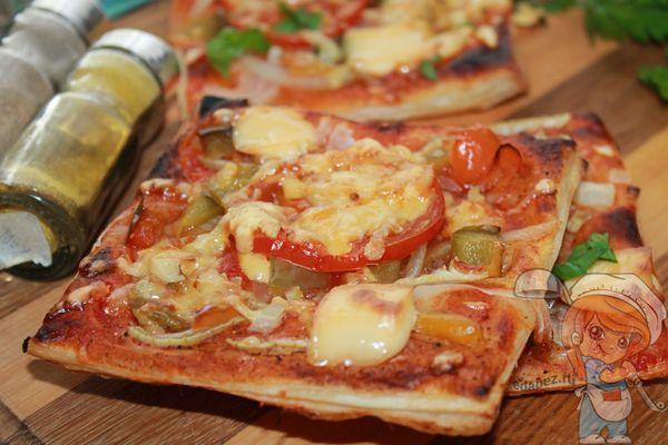 Овощная пицца без мяса