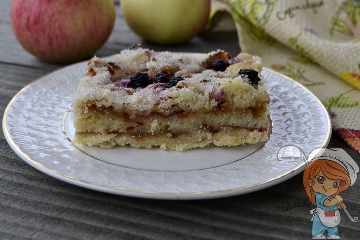 пошаговый рецепт насыпного яблочного пирога