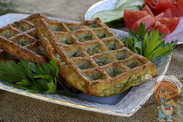 Пп вафли из кабачка, рецепт в духовке