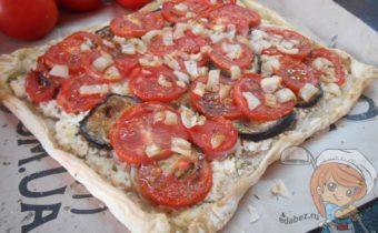 Пирог с баклажанами и помидорами