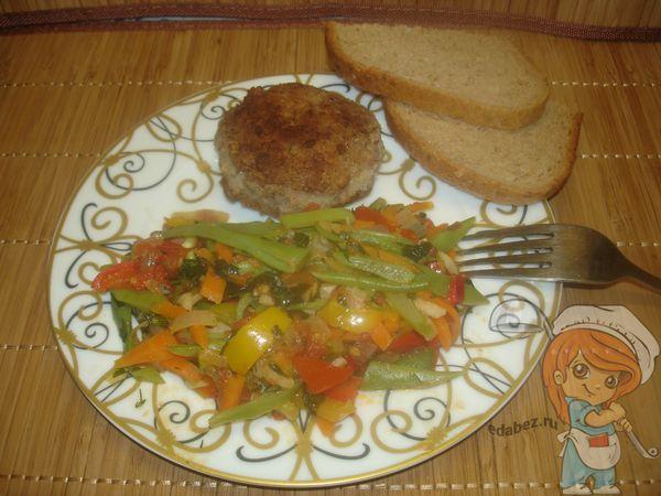 овощное рагу из фасоли