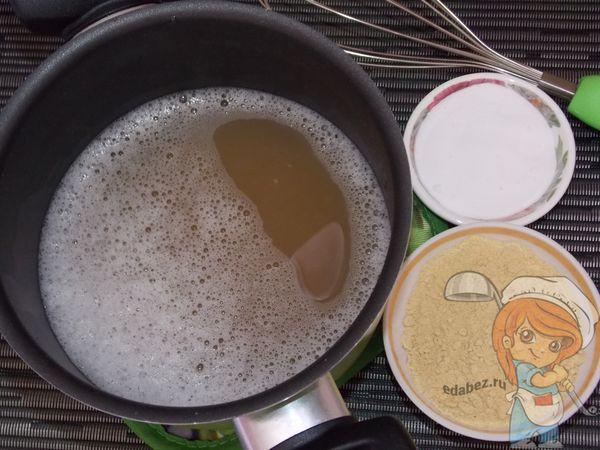 Мыльный раствор, сода и горчица
