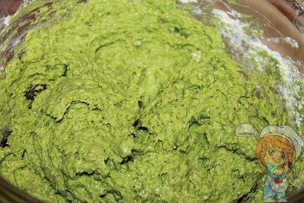зеленое тесто