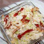 салат с вялеными помидорами и жаренным сыром