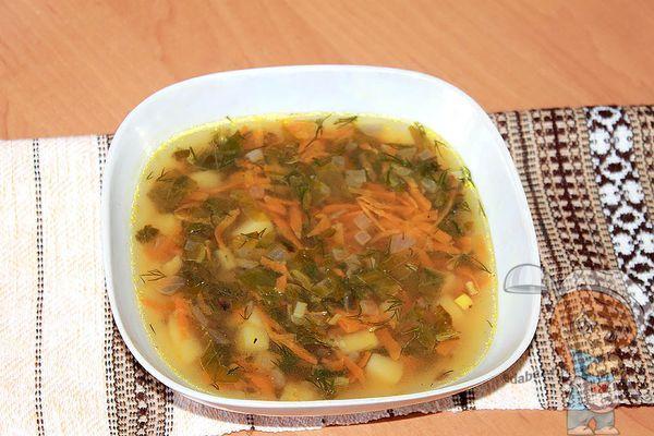 витаминный постный суп