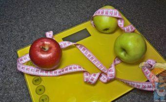 Метр, яблоки, весы