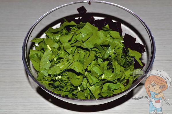 выкладываем в салатник
