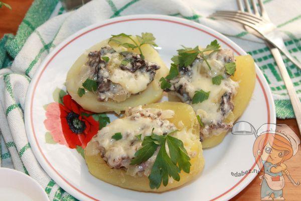 жульен в картофеле с сыром