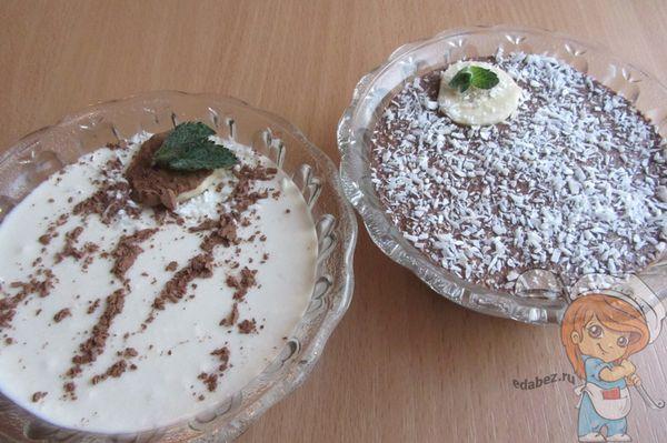 Шоколадно творожный десерт