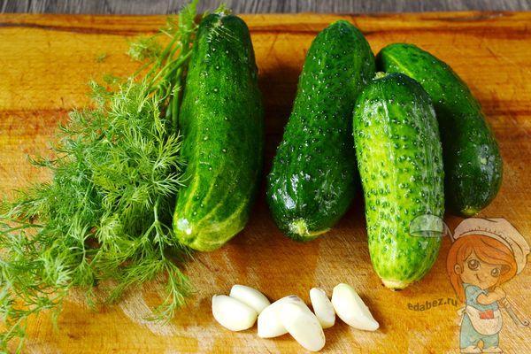 Моем овощи и чистим чеснок