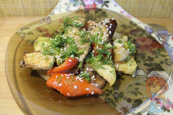 салат из овощей на гриле