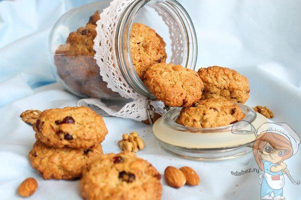 овсяное печенье с орехами ягодами