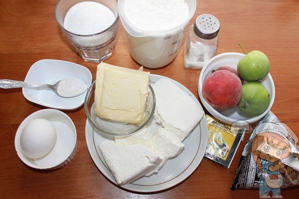 ингредиенты для шоколадно творожного пирога