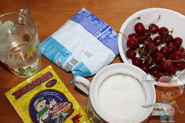 Ингредиенты для десерта из визни