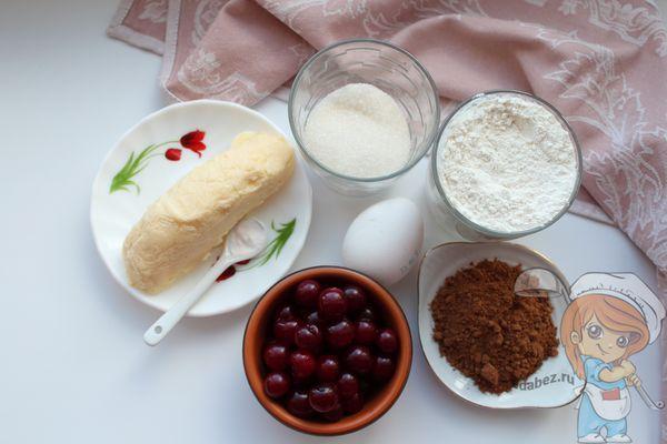 Ингредиенты для классического шоколадного печенья