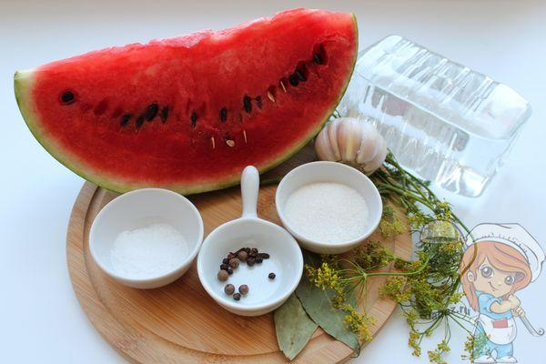 Ингредиенты для засолки арбуза