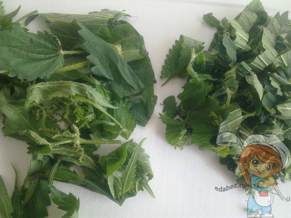 Шинкуем крапивные листья