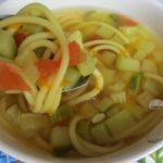 Суп с кабачком и спагетти